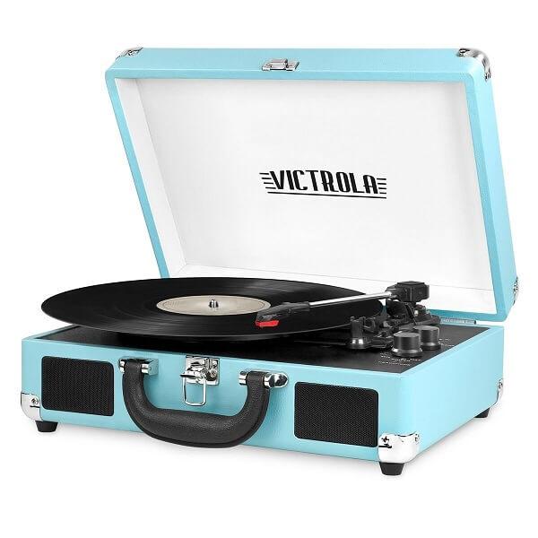 Victrola Vintage Bluetooth Suitcase Turntable with Speakers