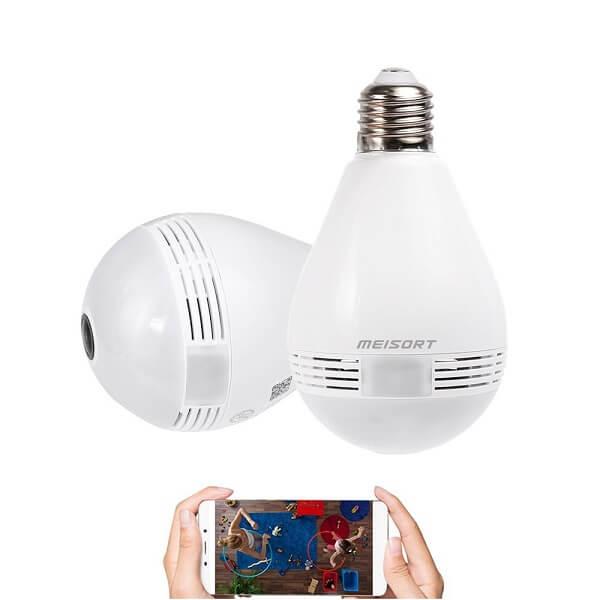 Meisort light bulb camera