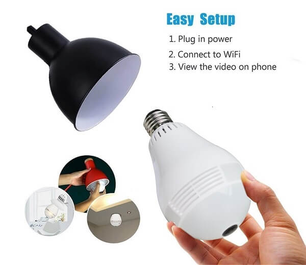ax security light bulb camera