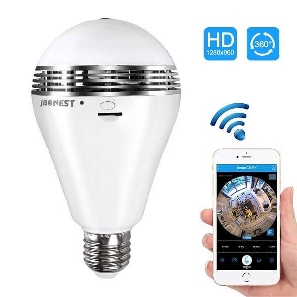 jbonest light bulb camera
