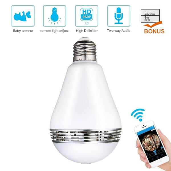 meco light bulb camera