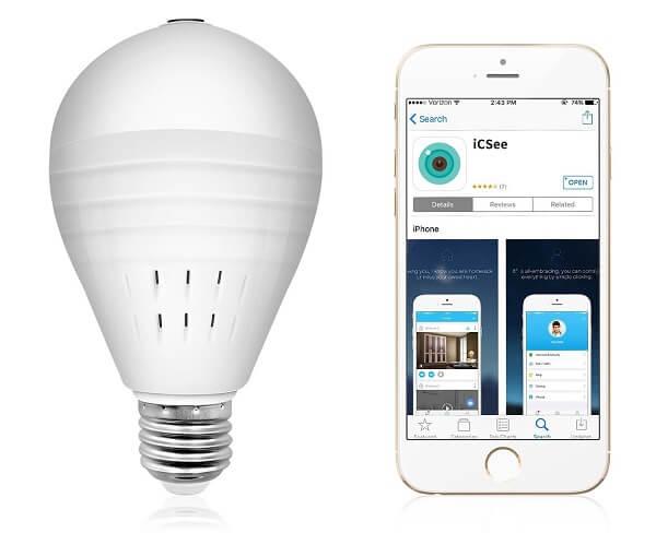sdeter light bulb camera