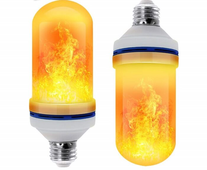 cppslee flame effect light bulb