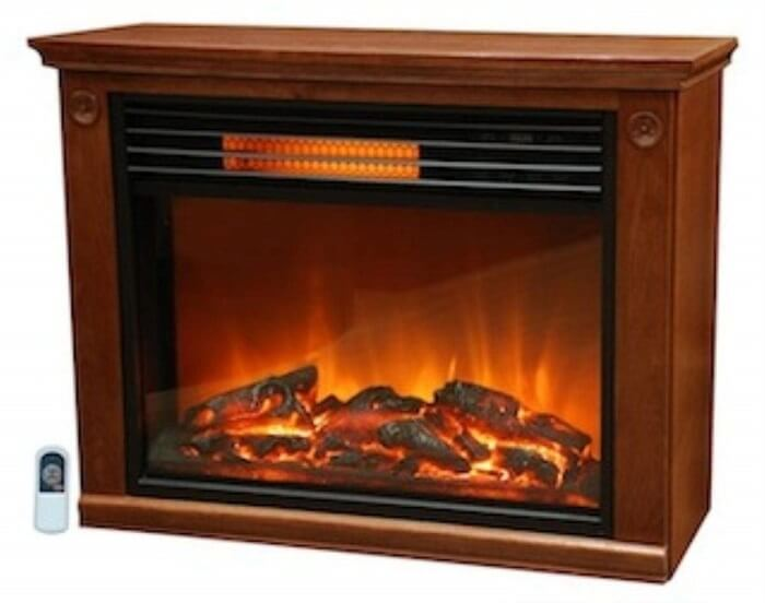 lifesmart electric fireplace with remote