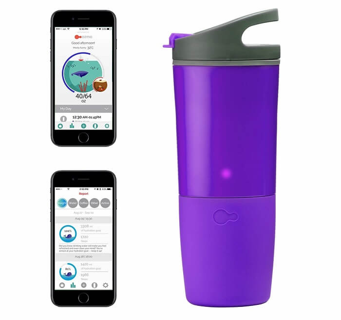 ozmo bluetooth water bottle