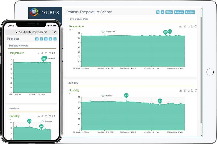 proteus1 Temperature and Humidity Monitor