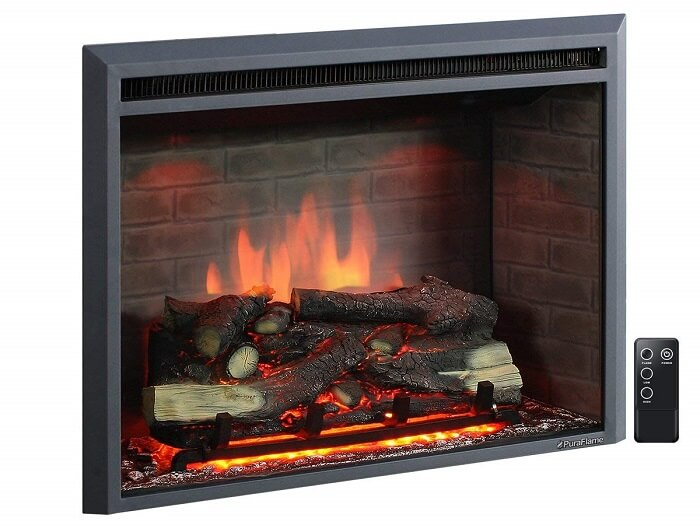 puraflame electric fireplace with remote