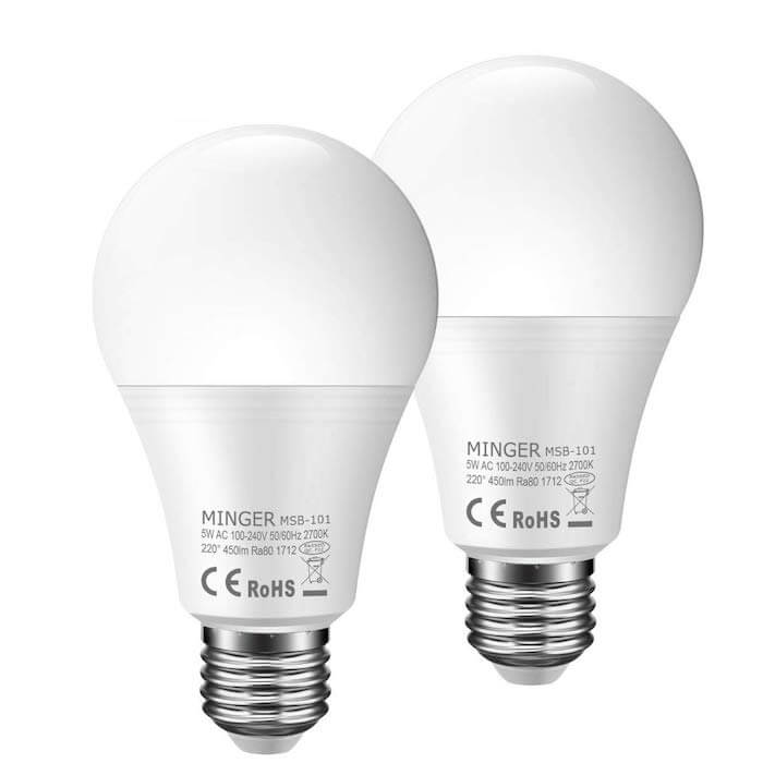 minger motion activated bulb