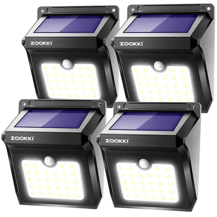 zookki solar pir lights