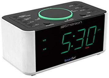 emerson wireless charging alarm clock