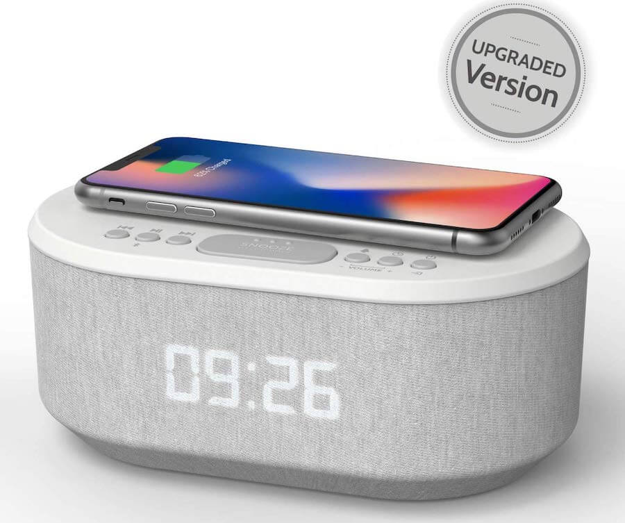 i-box wireless charging alarm clock