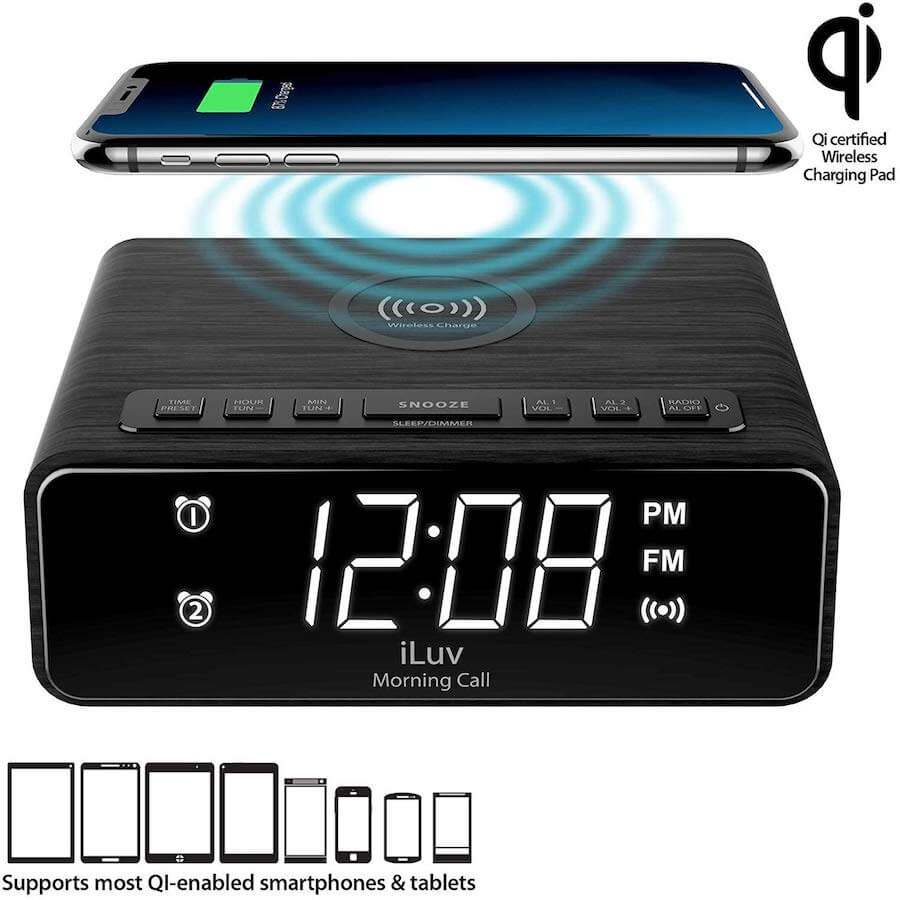 iluv wireless charging alarm clock