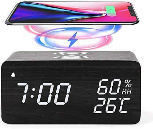jall wireless charging alarm clock