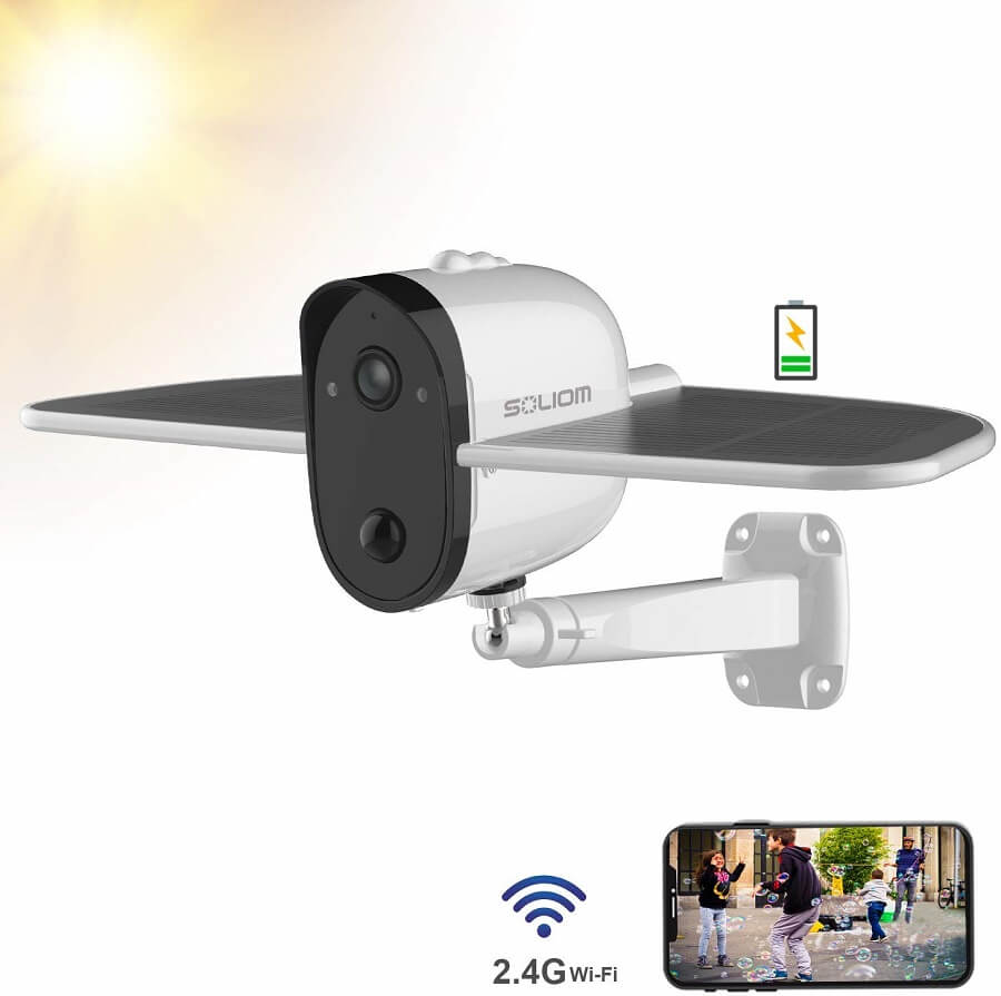 soliom s60 solar powered security camera