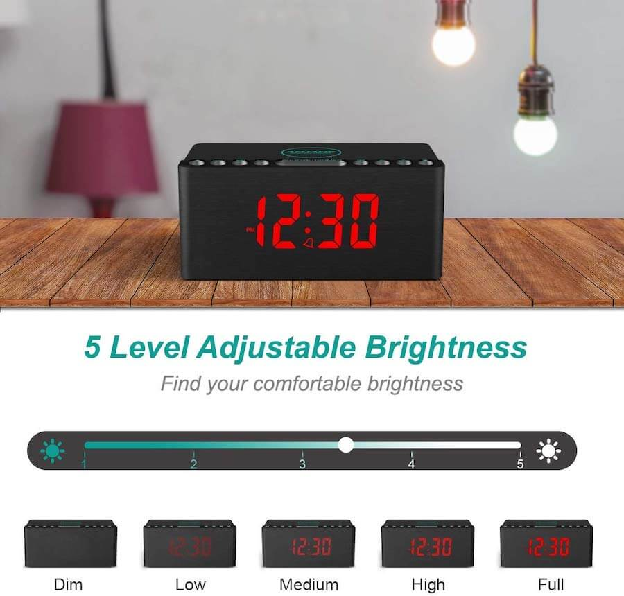 wireless charging alarm clock2