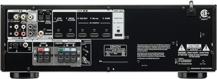 5 channel stereo receiver3