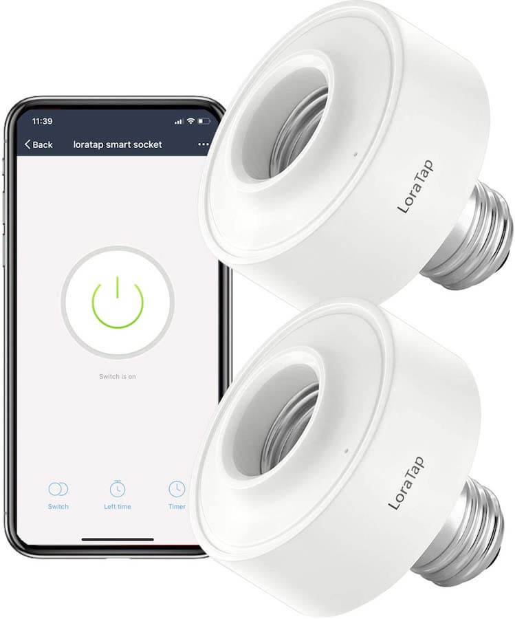 loratop smart bulb socket