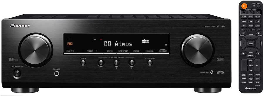 pioneer 5 channel stereo receiver
